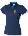 Womens 2colour superior fitted polo- QARNNS